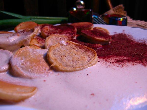 малки холандски палачинки с тирамису сос
