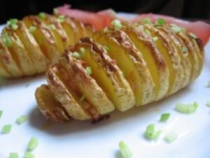 Печени картофи ветрило с чесън