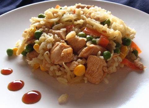 лесно ризото с пилешко и зеленчуци