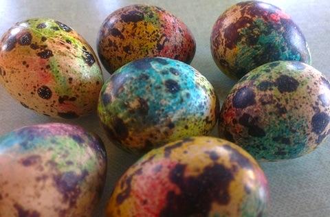 яйца от пъдпъдък за Великден