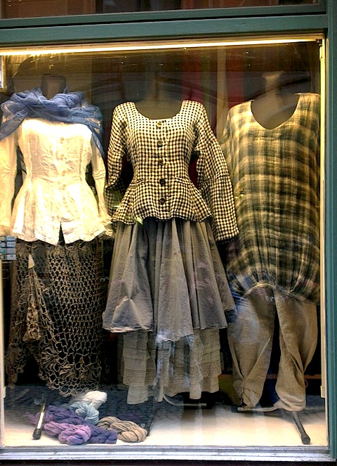 shop window old clothes