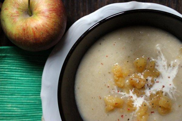 супа от целина с карамелизирани ябълки