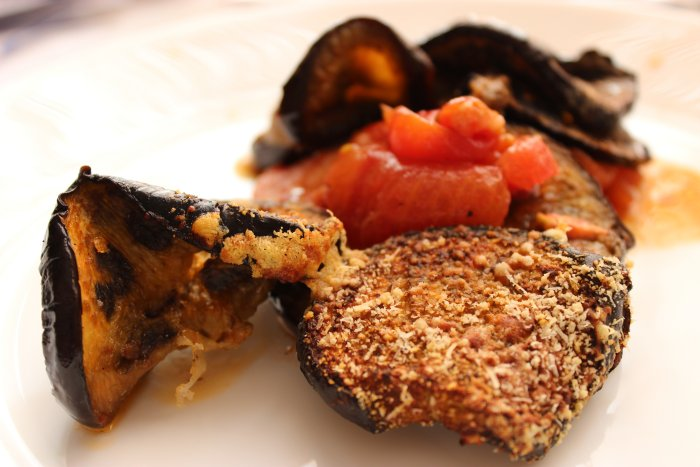 есенен огретен с патладжани и домати